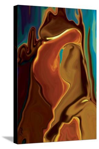 The Kiss-Rabi Khan-Stretched Canvas Print