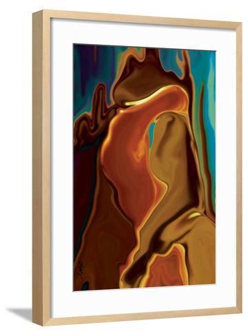 The Kiss-Rabi Khan-Framed Art Print