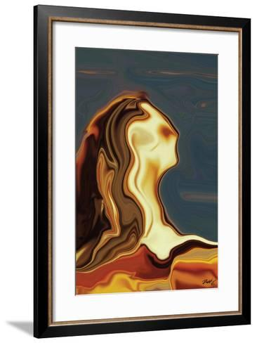 Waiting 3-Rabi Khan-Framed Art Print