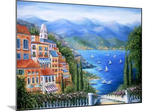Villaggio Italiano Sul Lago-Marilyn Dunlap-Mounted Art Print
