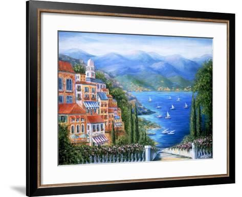 Villaggio Italiano Sul Lago-Marilyn Dunlap-Framed Art Print