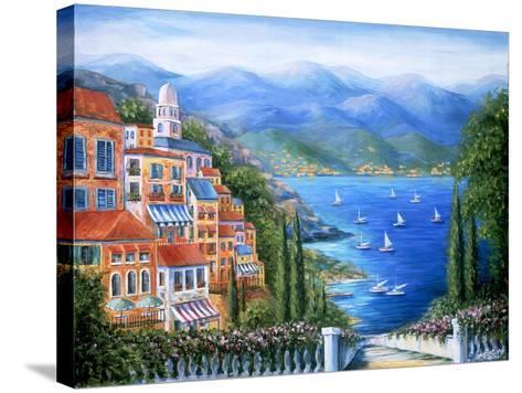 Villaggio Italiano Sul Lago-Marilyn Dunlap-Stretched Canvas Print