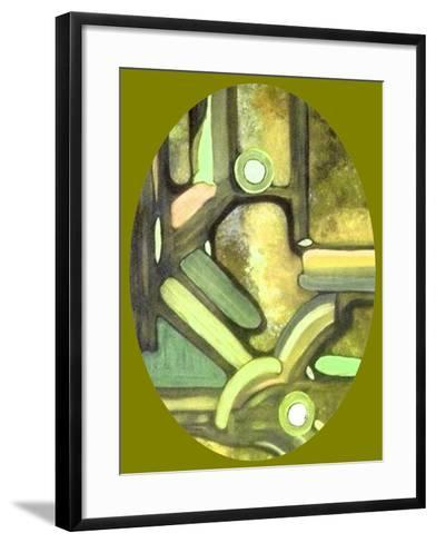 Olive Passage-Ruthie Digital Abstract-Framed Art Print