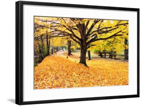 Halloween Outdoor Scenic-George Oze-Framed Art Print