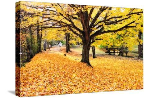 Halloween Outdoor Scenic-George Oze-Stretched Canvas Print