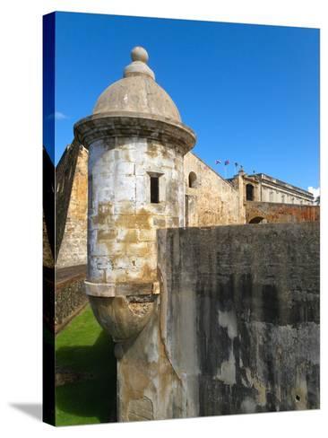 Sentry Post, San Cristobal Fort, San Juan-George Oze-Stretched Canvas Print