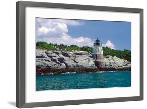 Castle Hill Lighthouse, Newport, RI-George Oze-Framed Art Print