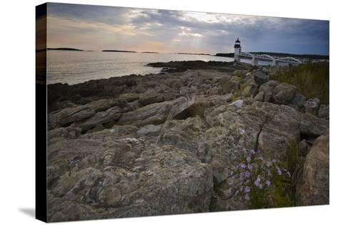 Marshall Point Shoreline, Port Clyde Maine-George Oze-Stretched Canvas Print