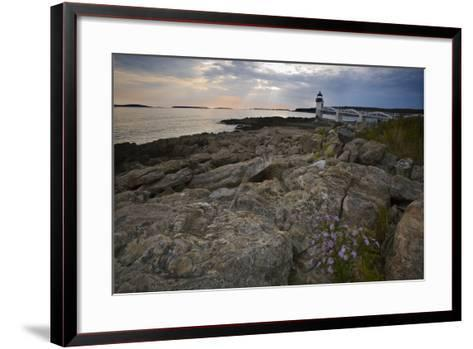 Marshall Point Shoreline, Port Clyde Maine-George Oze-Framed Art Print