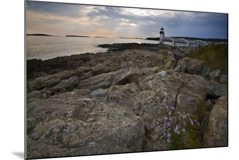 Marshall Point Shoreline, Port Clyde Maine-George Oze-Mounted Photographic Print