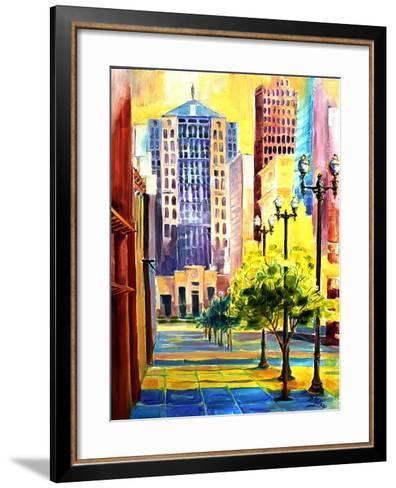 Dawn in Chicago-Diane Millsap-Framed Art Print