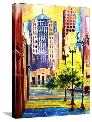 Dawn in Chicago-Diane Millsap-Stretched Canvas Print