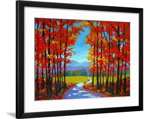 Autumn Path III-Patty Baker-Framed Art Print