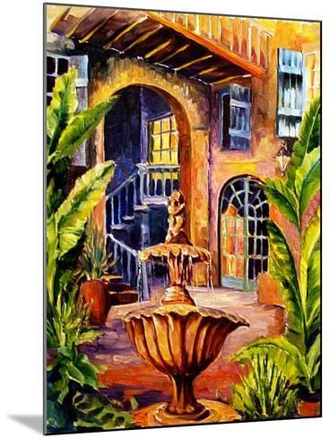 French Quarter Courtyard in New Orleans-Diane Millsap-Mounted Art Print