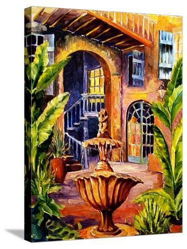 French Quarter Courtyard in New Orleans-Diane Millsap-Stretched Canvas Print