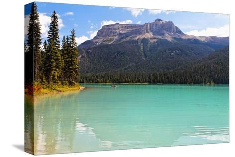 Summer Day at Emerald Lake, Canada-George Oze-Stretched Canvas Print