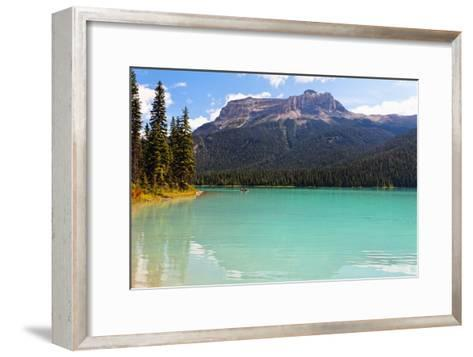 Summer Day at Emerald Lake, Canada-George Oze-Framed Art Print