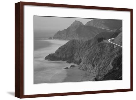 Dusk Highway 1 Pacific Coast CA USA--Framed Art Print