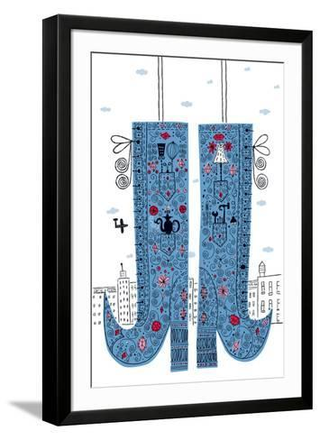 Fancy Boots-Melinda Beck-Framed Art Print