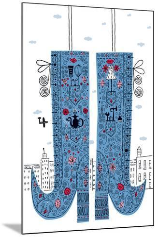 Fancy Boots-Melinda Beck-Mounted Art Print
