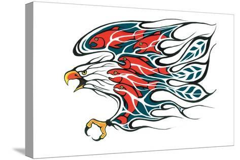 Salmon Run-Fletcher Shelly-Stretched Canvas Print