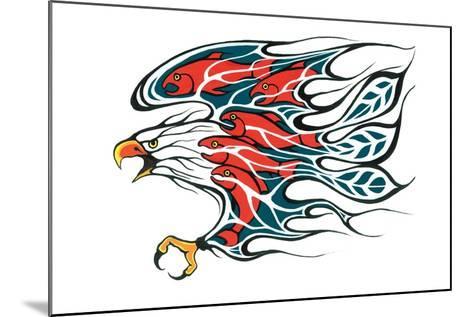 Salmon Run-Fletcher Shelly-Mounted Art Print