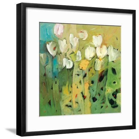 White tulips II-Jennifer Harwood-Framed Art Print