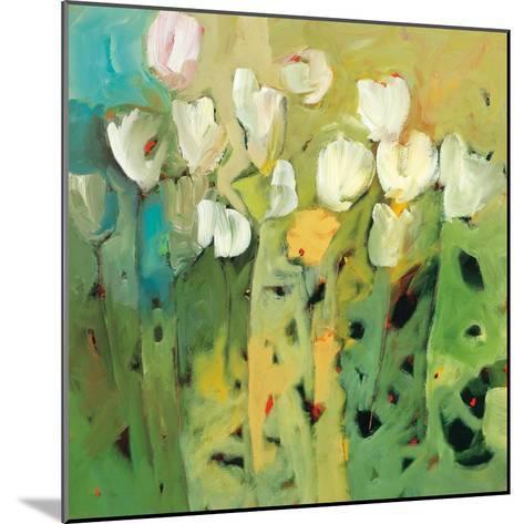 White tulips II-Jennifer Harwood-Mounted Art Print
