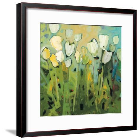 White Tulips I-Jennifer Harwood-Framed Art Print
