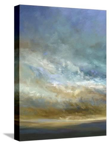 Coastal Clouds Triptych I-Sheila Finch-Stretched Canvas Print