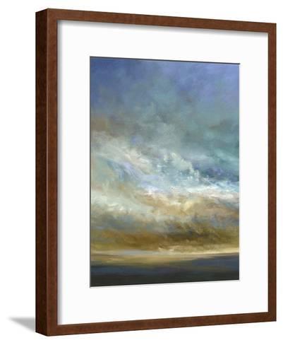 Coastal Clouds Triptych I-Sheila Finch-Framed Art Print
