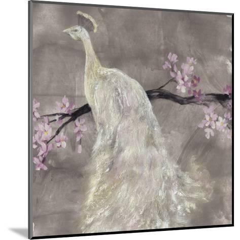 Peacock Serenity II-Jennifer Goldberger-Mounted Premium Giclee Print