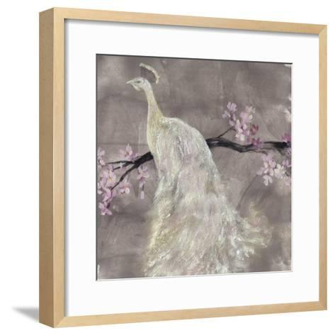 Peacock Serenity II-Jennifer Goldberger-Framed Art Print