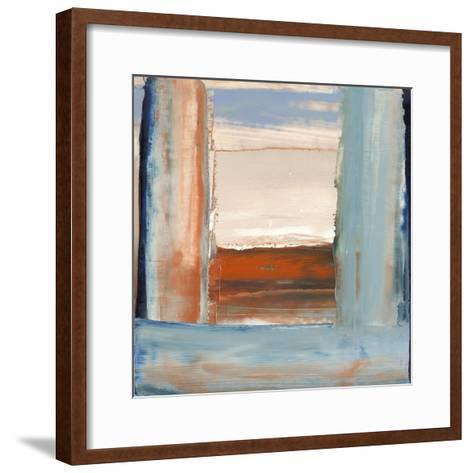 Orange & Blue I-Sharon Gordon-Framed Art Print