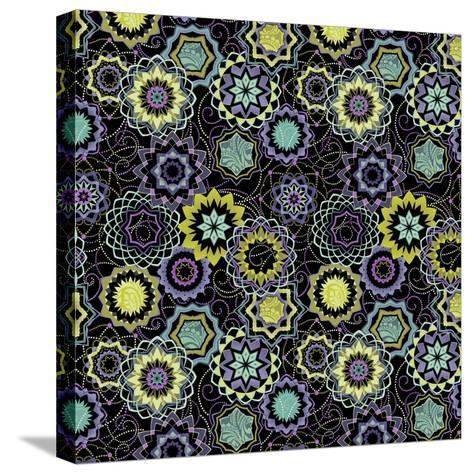 Endeavour Medallions I-Katia Hoffman-Stretched Canvas Print