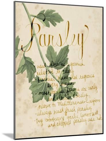 Herb Study V-Grace Popp-Mounted Art Print