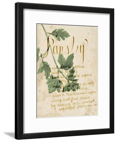 Herb Study V-Grace Popp-Framed Art Print