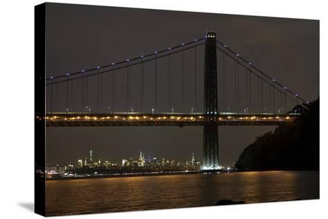 George Washington Bridge II-James McLoughlin-Stretched Canvas Print
