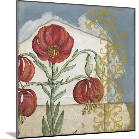 Vintage Lilies I-Megan Meagher-Mounted Premium Giclee Print