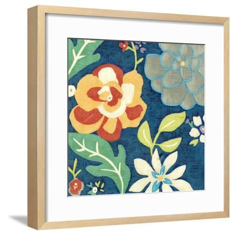 Indigo Garden III-Chariklia Zarris-Framed Art Print