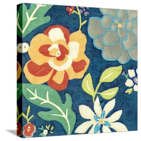 Indigo Garden III-Chariklia Zarris-Stretched Canvas Print
