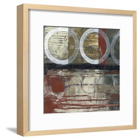 Circles & Stripes II-Jennifer Goldberger-Framed Art Print