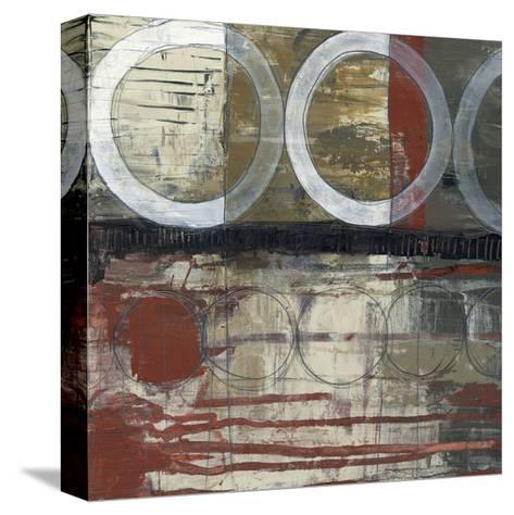 Circles & Stripes II-Jennifer Goldberger-Stretched Canvas Print