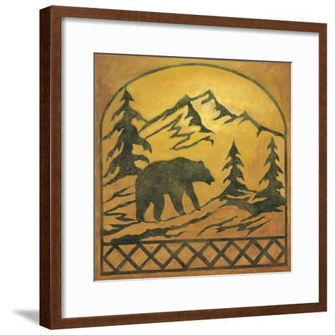 Lodge Bear Silhouette-Chariklia Zarris-Framed Art Print