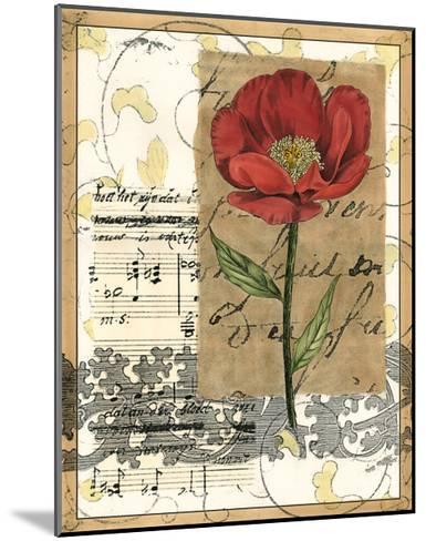 Small Poppy Melody I-Vision Studio-Mounted Art Print