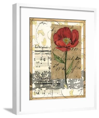 Small Poppy Melody I-Vision Studio-Framed Art Print