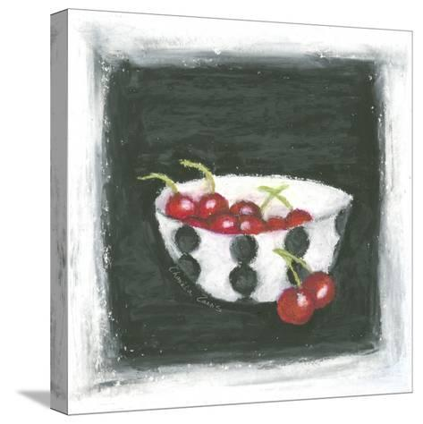 Cherries in Bowl-Chariklia Zarris-Stretched Canvas Print