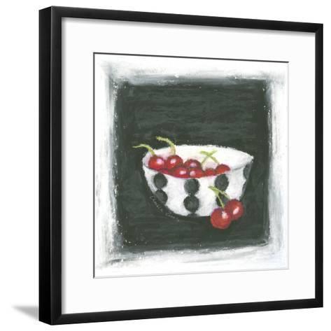 Cherries in Bowl-Chariklia Zarris-Framed Art Print