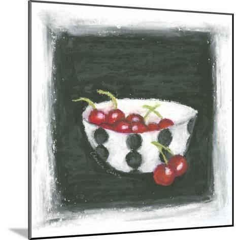 Cherries in Bowl-Chariklia Zarris-Mounted Art Print