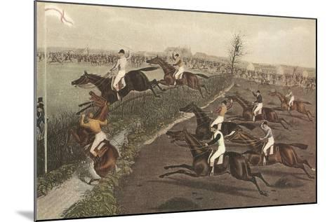 The Grand Steeple Chase II-F.C. Turner-Mounted Art Print